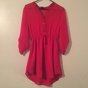 Rue21 Red Chiffon Dress